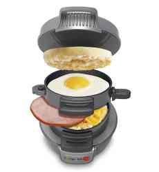 The Hamilton Beach Breakfast Sandwich Maker lets you make your own hot, homemade breakfast sandwich in less than 5 minutes, using the fresh ingredients of your choice. Get it for just $24.00 at our blog, http://christmasgiftsformen.professorsopportunities.com/breakfast-sandwich-maker-hamilton-beach/