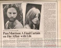 Pam Morrison, The Doors Jim Morrison, Les Doors, A Final, Connection Quotes, Jim Pam, Sims, Rock News, Light My Fire