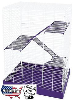 Chew Proof Hamster Cage Four Story Platform Mouse Guinea Pig Rat Animal Pet NEW  #WareManufacturing  #hamster #cage #guineapig #pets