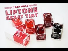 [SWATCH + REVIEW] TONYMOLY LIPTONE GET IT TINT - YouTube