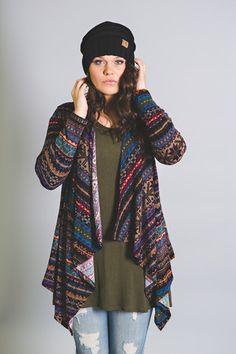 Bohemian Printed Cardigan-Plus Size - NanaMacsBoutique  - 1