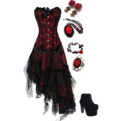 A fashion look from January 2015 featuring Sexy Romantie tops and Jeffrey Campbell ankle booties. Browse and shop related looks. Gothic Outfits, Edgy Outfits, Pretty Outfits, Pretty Dresses, Beautiful Dresses, Dress Outfits, Prom Dresses, Fashion Outfits, Dark Fashion