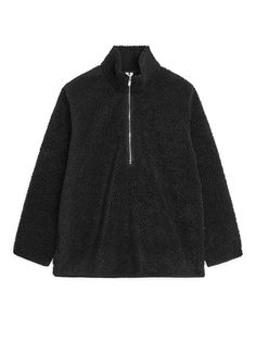Pile Half-Zip - Black - Tops - ARKET FI