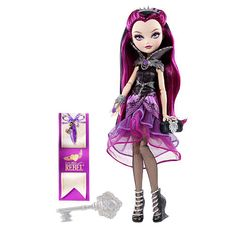 Ever After High Raven Queen Doll - Mattel -  Ever After High™ Raven Queen™ Doll Ever After High Rebel Doll - Raven Queen  This Rebel dreamer is ready to rewrite her destiny! Raven Queen, daughter of the Evil Queen, has a good heart and wicked-cool style. She rocks a regal-chic outfit — layered purple skirt, black bodice, dramatic silver collar, and matching accessories — and comes with a bookmark that tells her hexclusive side of the story!