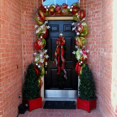 My front door is decorated for Christmas Pinterest style!