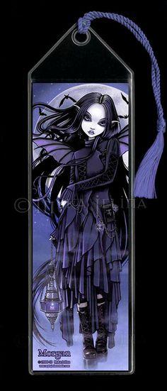 Morgan Gothic Purple Vampire Bat Fairy Moon by MykaJelina - dark fantasy Dark Fantasy, Gothic Fantasy Art, Gothic Fairy, Fantasy Kunst, Art Vampire, Gothic Vampire, Gothic Kunst, Art Kawaii, Gothic Artwork
