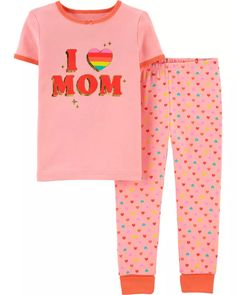 Snug Fit Love Mom Cotton PJs | carters.com