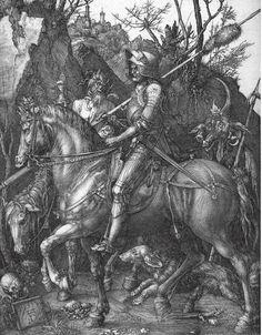 Alberto Durero.  El caballero, la Muerte y el Diablo, 1513.