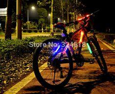 LED fiber safety warning stick super flare bicycle frame lamp universal folding bike light safety caution light