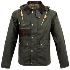 Barbour Clothing Barbour Fishing Standen Olive Waxed Jacket