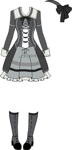 Victorian Outfit4 Adoptable closed by AS-Adoptables.deviantart.com on @DeviantArt