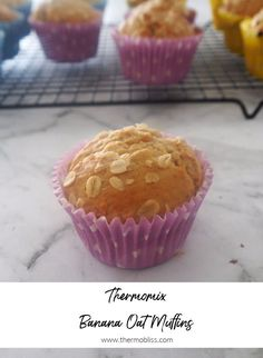 Looking for an easy Banana Muffin recipe? Our Thermomix Banana and Oat Muffins are for you! This easy muffin recipe is freezer friendly and great for lunchboxes too. Thermomix Banana Muffins, Banana Muffin Recipe Easy, Banana Oat Muffins, Simple Muffin Recipe, Banana Oats, Healthy Muffins, Muffin Recipes, Mini Muffins, Fun Easy Recipes