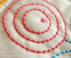Embroidery - Backstitch using Perle 8 cotton - Vintage Kitchen Blog Tour