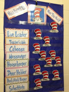 Dr. Seuss Job chart! LOVE IT!!