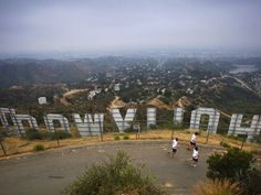 Behind the Hollywood sign!