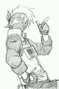 Kakashi another favorite character from naruto Naruto Kakashi, Anime Naruto, Art Naruto, Naruto Sketch, Naruto Drawings, Anime Sketch, Anime Guys, Kakashi Drawing, Manga Art