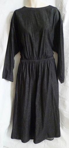 Womens Denim Dress Size 2X Dark Denim Long Sleeve Long Length Coldwater Creek #ColdwaterCreek #Maxi #Casual