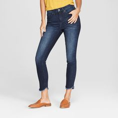 43f5d44e0b3 Bring some edge to your collection of basic denim with these High-Rise Skinny  Jeans from Universal Thread™. A dark wash with a faded look lends itself t