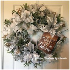 A personal favorite from my Etsy shop https://www.etsy.com/listing/566656777/christmas-wreath-winter-wreath-silver
