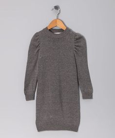 Take a look at this Gray Maxime Dress - Infant, Toddler & Girls by KandyCrew on #zulily today! / omg to the freaking g/ love it