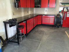 Steevo-inspired Harbor Freight toolbox workbench