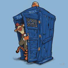 Tigger and the TARDIS MashupArt - News - GeekTyrant