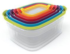 Joseph Joseph Nest Compact Storage Containers, 6-Piece Set - Multi-Colour