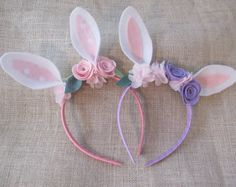 Bunny Ears Bunny Headband Somebunny Party Rabbit by luxieblooms
