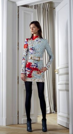 Kasia Struss for Balmain Pre-Fall 2012 Dress Tunic Unique Style Inspiration Apparel Clothing Design #UNIQUE_WOMENS_FASHION