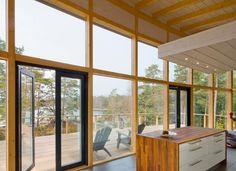 Finnhouse Post & Beam house View grom inside