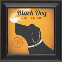 Found it at Wayfair - Black Dog Coffee Co. by Fowler, Ryan Framed Vintage Advertisement