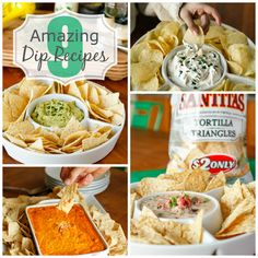 9 Amazing Dip Recipes -- a great Super Bowl game day get together just isn't complete without an amazing dip recipe... Here are 9 delicious ones to try!