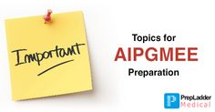 Most Important Topics for AIPGMEE Entrance Examination