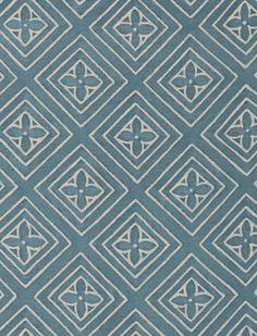 5516 JUPON in azure blue & warm white Fortuny Printed Cottons Textile Patterns, Textile Prints, Textiles, Graphic Design Pattern, Gold Texture, Blue Design, Modern Prints, Floral Motif, Printed Cotton