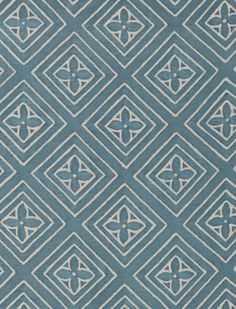 Jupon in azure blue & warm white Fabric ID: 5516
