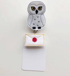 Owl badge reel, hedwig badge, Harry potter badge, hogwarts letter, Nurse badge reel, badge reel, nursing badge reel, id badge holder personal favorite from my Etsy shop https://www.etsy.com/listing/583188517/owl-badge-reel-hedwig-badge-harry-potter