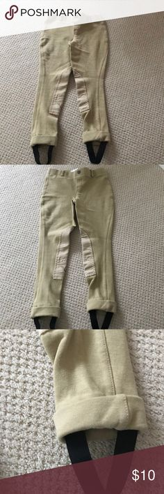 Girls Riding Pant Girls Horseback Riding Pant Great for lessons and pony shows Short stirrup shows Never Worn Size 8 tuff rider Bottoms
