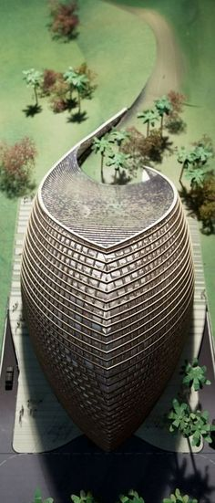 ♀ Futuristic architecture Model photo (Image courtesy of Mario Cucinella Architects)