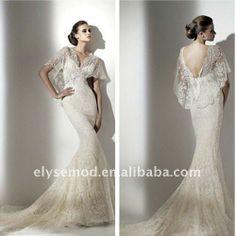 BEST BOHEMIAN WEDDING DRESSES    Best-Seller-Mermaid-Bohemian-V-Neck-Lace-Dramatic-Wedding-Dresses.jpg