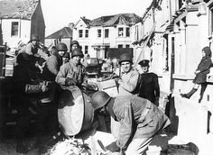 American soldiers help with salvage work, Plymouth 1940s