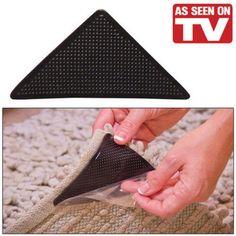 frete grátis venda quente 8pcs/lot( 1ot=8pcs pegajoso) como visto na tevê conjunto de 8 manter tapetes tapete pinças esteiras para evitar de...