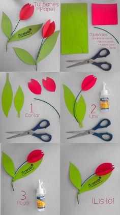 Origami Flowers Diy Flowers Paper Flowers Spring Art Spring Crafts Friend Crafts Kindergarten Art Diy Crafts For Kids Flower Crafts Paper Flowers Diy, Paper Roses, Felt Flowers, Flower Crafts Kids, Diy Crafts For Kids, Easy Crafts, Spring Art, Spring Crafts, Friend Crafts