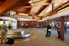 """Arrival over Snake River"" at the Jackson Hole Airport, by Terry Chambers (the photo is actually from the company that did the airport lighting) Jackson Hole Airport, Airport Design, Public Art, Office Interiors, Wyoming, Building, Places, Projects, Snake"