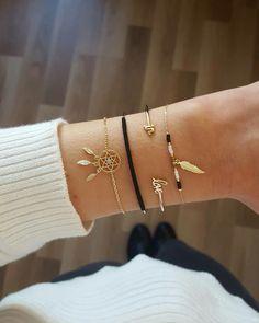 Combo Black and Gold avec les bracelets Attrape-rêve, Dylan, Love et Adam