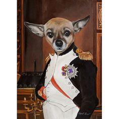 Napoleon Chihuahua  5x7 Print, Dog Art Print, Napoleon Dog, Chihuahua Clothes