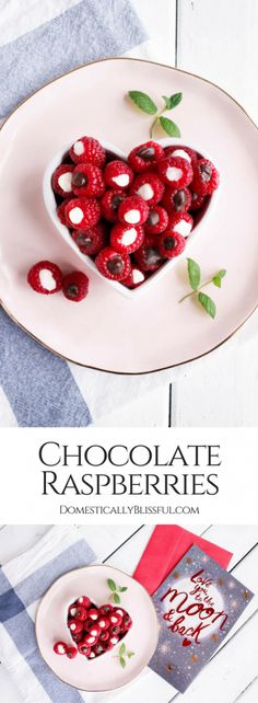 You only need a few ingredients to make these quick & easy Chocolate Raspberries! And they make a perfect gift along with an American Greetings card from Walmart.   #ad #SendingMyLove   dark chocolate raspberries   white chocolate raspberries   chocolate fruit   chocolate dipped fruit   chocolate filled fruit   valentines dessert   valentines day   valentines recipe   valentines treat   easy recipe   easy dessert   valentines day gifts for him   valentines ideas   valentines food...