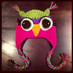 crochet+owl+hat | Crochet owl hat