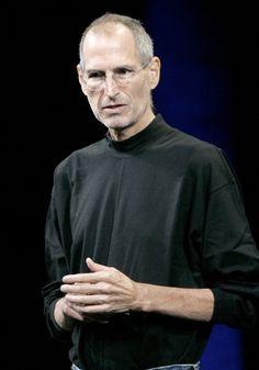 Known for sporting classic black turtlenecks, the classic Steve Jobs. Steve Jobs Biography, Steve Jobs Apple, Measure For Measure, Larry Page, Walt Disney Company, Black Turtleneck, Famous Men, Laser Printer, Technology