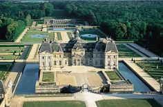 Architectural and decorative masterpieces of the mid-seventeenth century, the castle of Vaux-le-Vicomte was built for the superintendent of finances of Louis XIV, Nicolas Fouquet, Maincy in Seine-et-Marne.