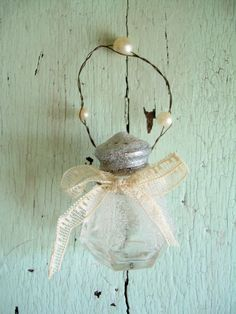 Glass Salt Shaker Ornament
